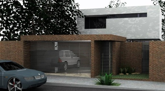 3D modelado y diseño casa jutta Paraguay