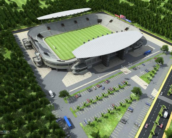 3D Estadio Caaguazú Paraguay