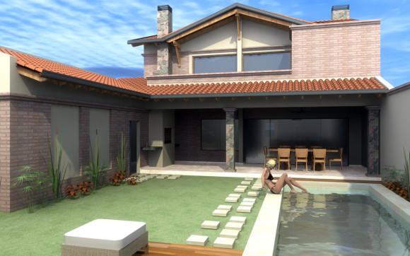 3d posterior de vivienda Proyecto 1.
