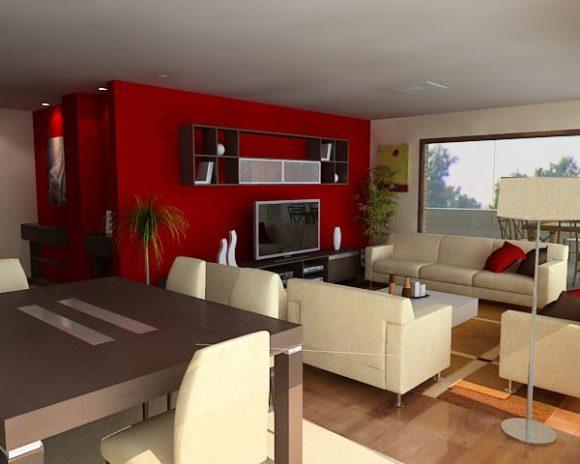 3d interior sala comedor paraguay for Proyecto de construccion de comedor escolar