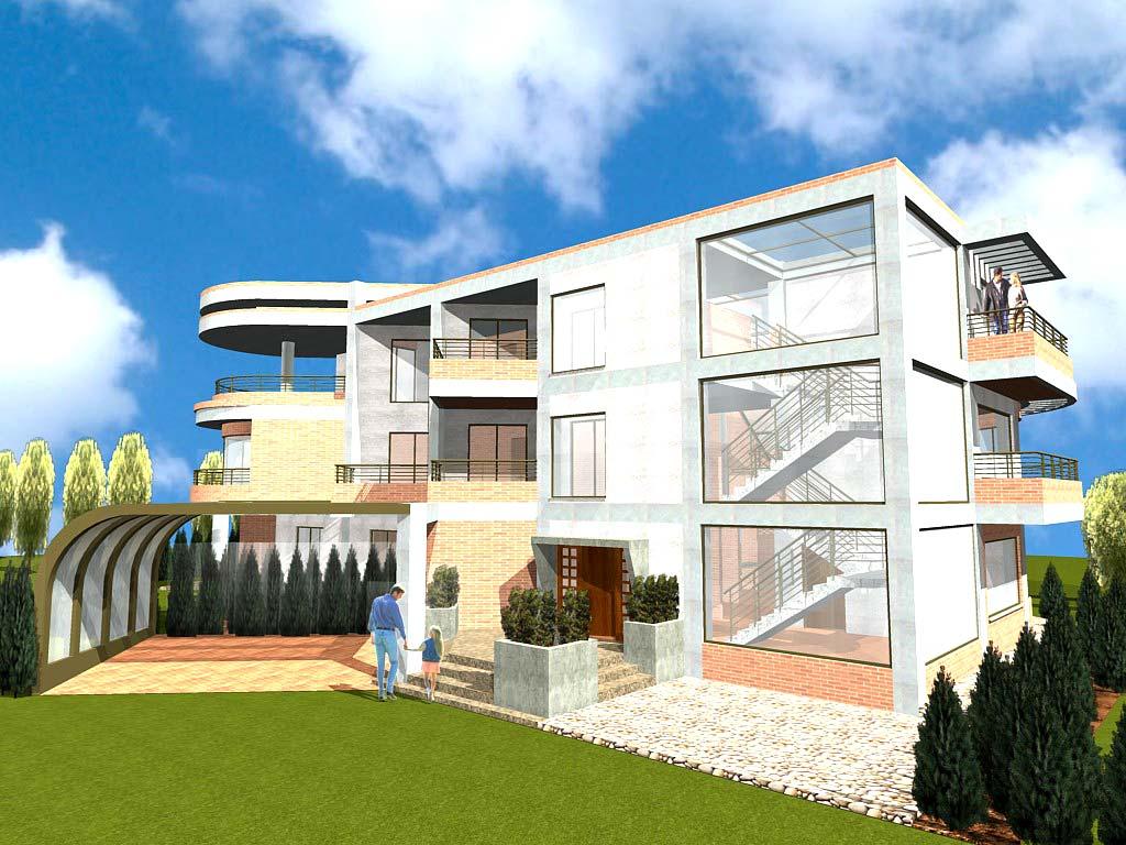 3d edificio de viviendas paraguay galer a social de arquitectura - Diseno de casas 3d ...
