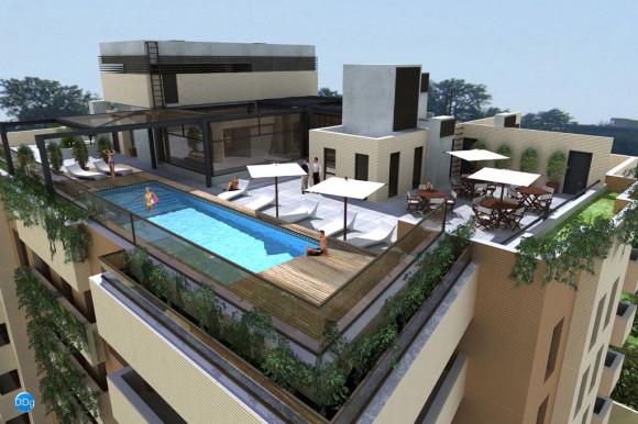 Edificio Barcelona terraza piscina