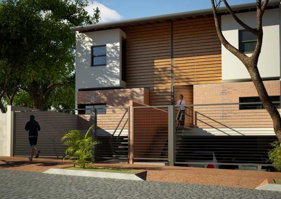 Duplex ladrillo fachada