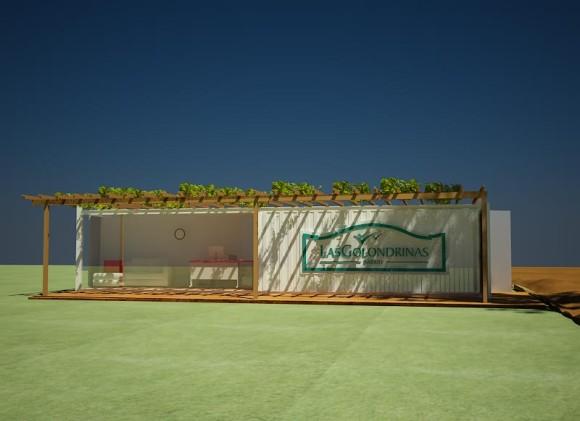 3d propuesta oficina m vil container for Container oficina
