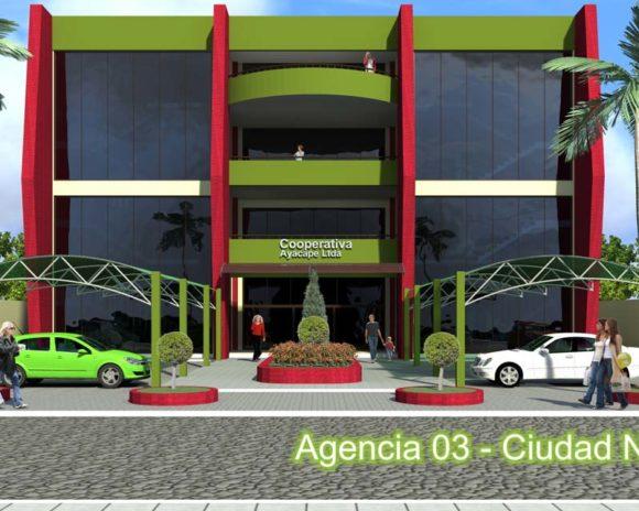 3D Cooperativa Ayacape fachada
