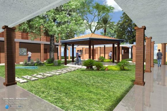 Casa Sede de Misioneros, patio