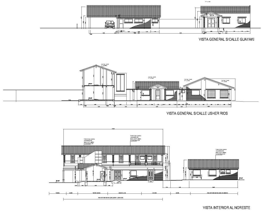 Shefa dibujo arquitectonico for Fachadas en planos arquitectonicos