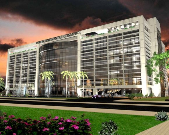 3D Anteproyecto Hotel Conmebol