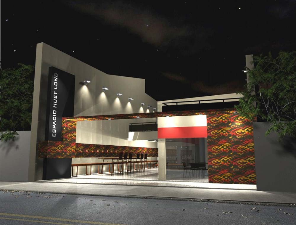 3d local comercial paraguay for Local arquitectura
