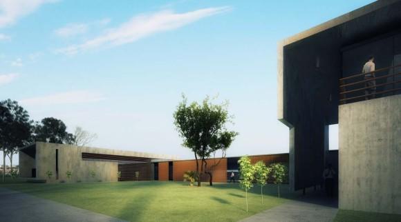 superespuma-oficinas-patio proyecto diseño