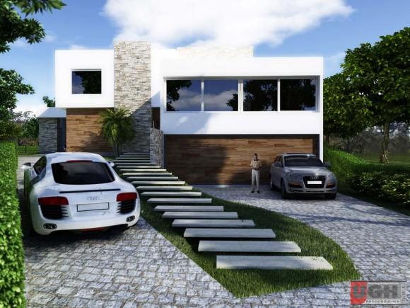 Perspectivas exteriores garage