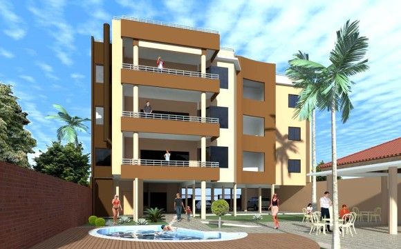 Edificio Teresa Patio Piscina Recreación