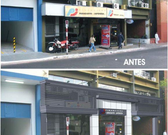 Antes y Después de Construcción Reforma Fachada
