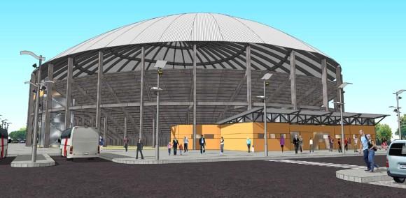 Estadio Fachada Diseño Construcción