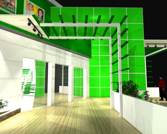 Proyecto y 3D Stand Coop. Chortitzer Vista Peatonal