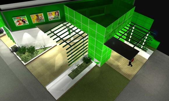 Proyecto y 3D Stand Coop. Chortitzer Construcción Diseño