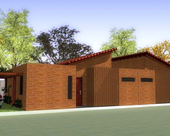 3D Conjunto Habitacional de Viviendas de Interés Social, o viviendas económicas