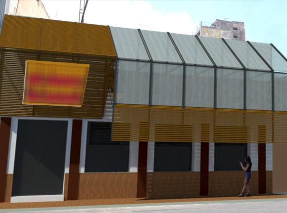 Fachada Exterior Restaurante Remodelación Restauración Arquitectura
