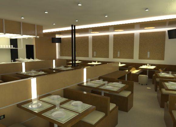 3D Restaurante Remodelación