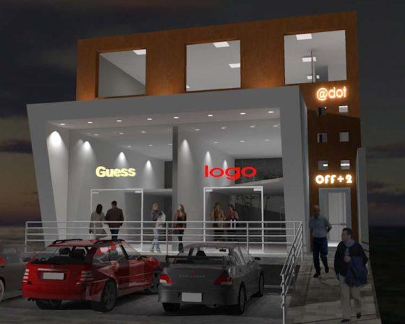 Comercios y Oficinas Diseño Fachada Moderna