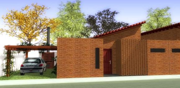 3D Prototipo Vivienda Interés Social Conjunto Habitacional