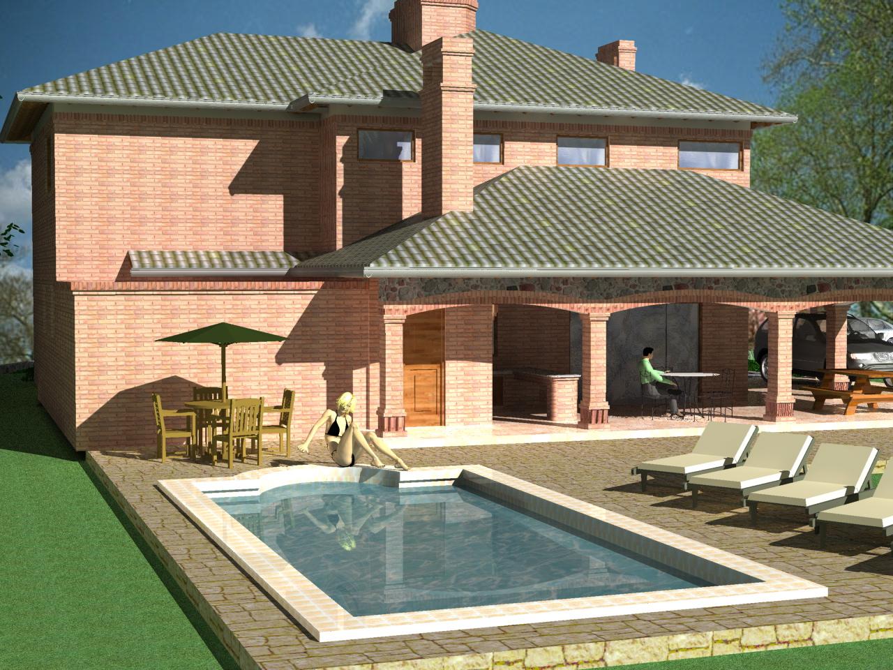 3d vivienda gonz lez to anez for Construccion de piscinas en paraguay