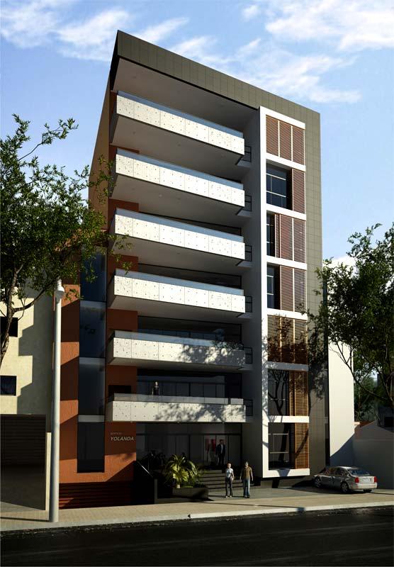 3d edificio yolanda paraguay for Edificios modernos de departamentos