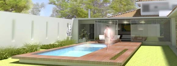 3D Residencia Franco Vista piscina