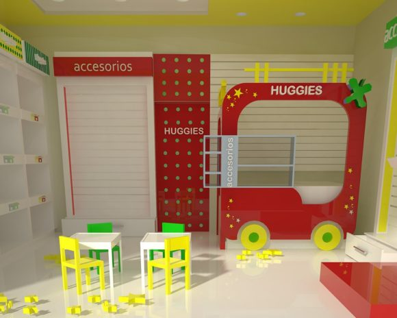 3D Stand Huggies Interior