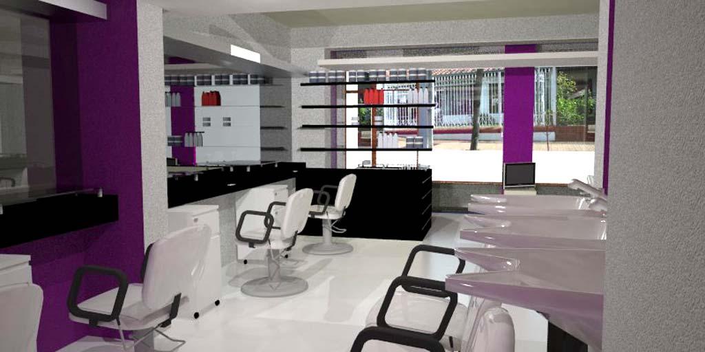3d anteproyecto peluquer a - Diseno peluqueria ...
