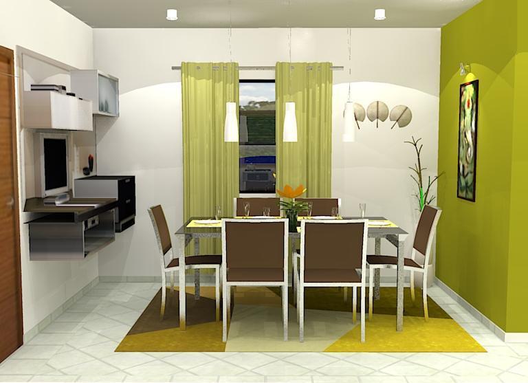 Interiores vivienda comedor cocina estar for Estar comedor disenos