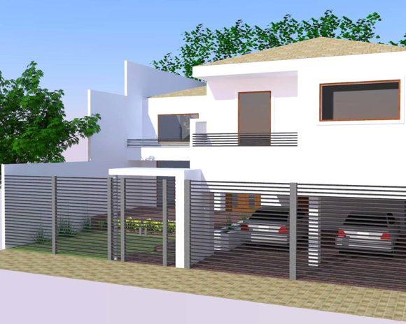 Vivienda 2 plantas niveles arquitectura