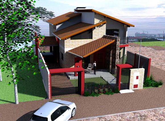 Vista Aerea vivienda aguero arquitectura paraguay 2 aguas
