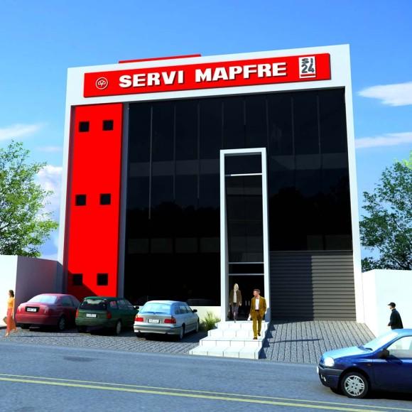 Edificio a implantarse sobre la supercarretera a Hernandarias, a 50 metros del viaducto sobre la ruta internacional.