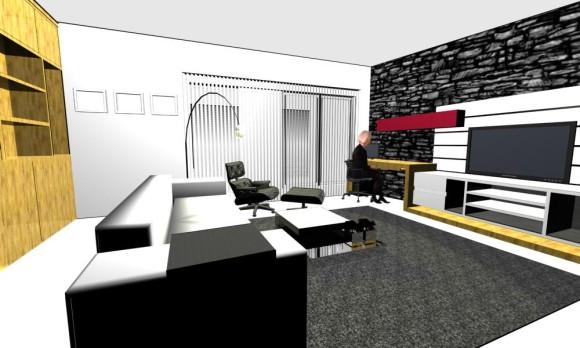 Interior Diseño Mueble de TV