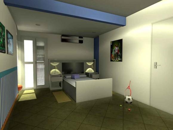 Vistas principales de dormitorio infantil