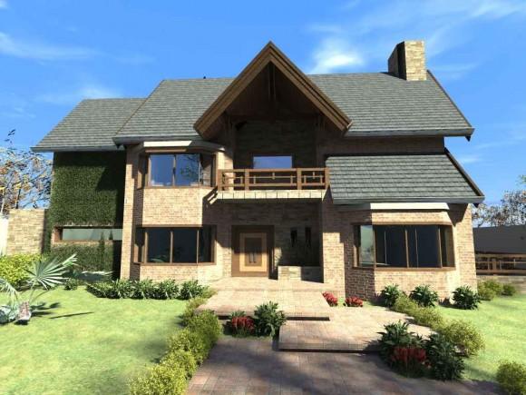 Casa Oze arquitectura y construcción paraguaya, latino américa, ladrillo y tejas planas
