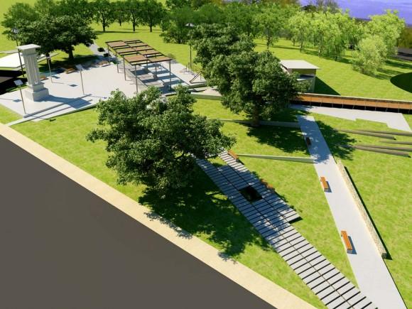 """3D Anteproyecto Plaza Monumento Histórico """"Batalla Ytororó"""""""