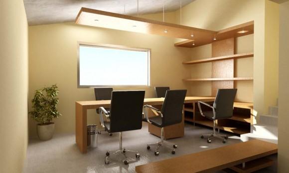3D Interior Oficina y Diseño del Mobiliario.