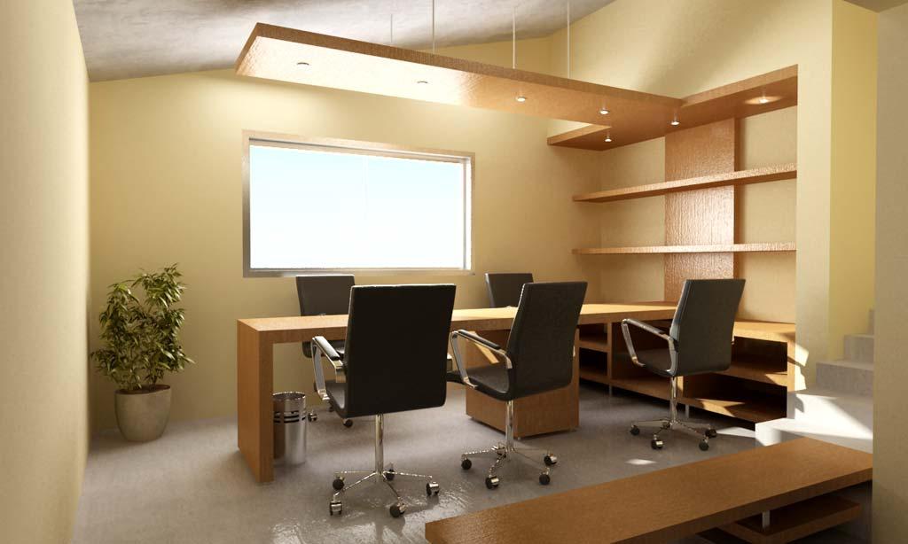 3d interior oficina y dise o del mobiliario for Mobiliario oficina diseno