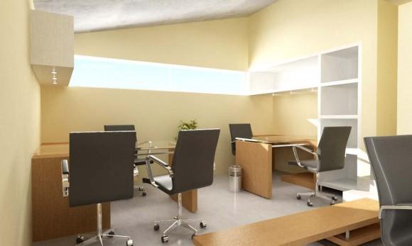 Reforma interior de local para su uso como oficina y el diseño del mobiliario.