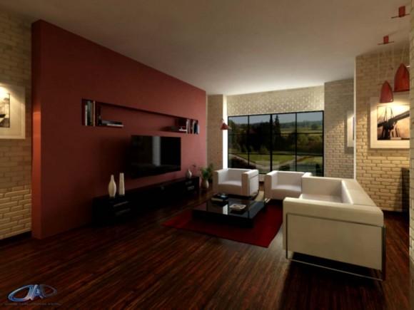 vivienda diseño interior render arquitectura