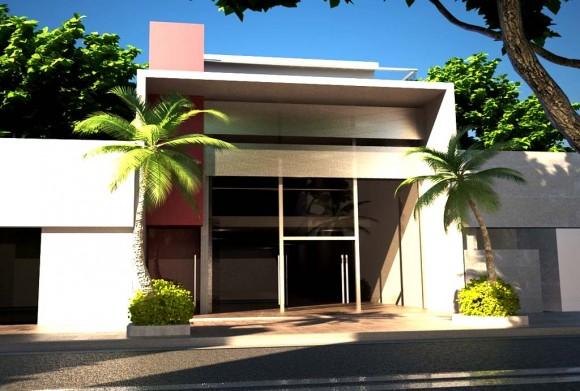 Local Comercial - Encarnacion Render Arquitectura