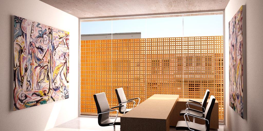 3d anteproyecto comercio y oficinas render arquitectos for Oficinas administrativas planos