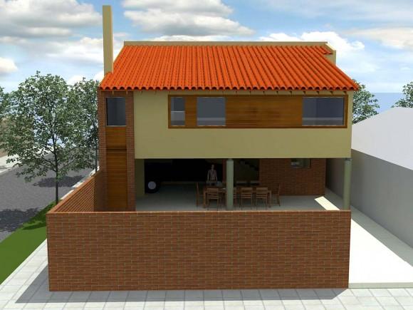 Refaccion de Vivienda unifamiliar arquitectura y construcción render