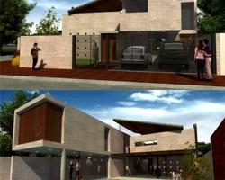 3D Viviendas Agrupadas Render arquitectura y construcción