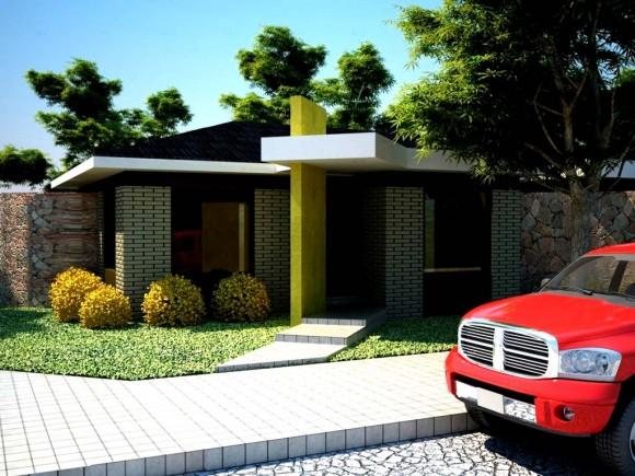 Vivienda Exterior Render Perspectiva Digital, Construcción y Arquitectura Constructora