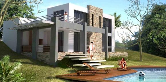 3D Casa de Retiro Render