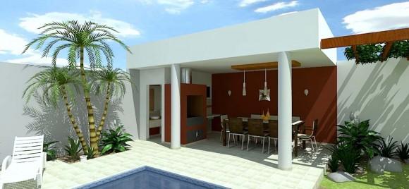 diseño Quicho y Piscina constructora arquitectura