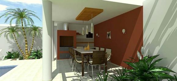 Quicho y Piscina construcción arquitectura